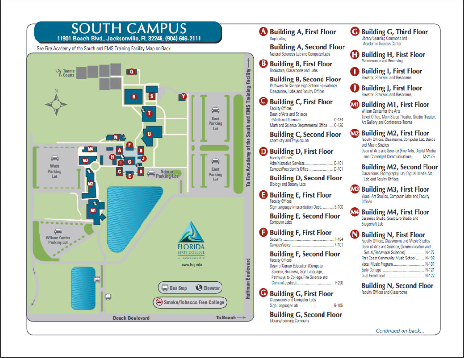 Fscj North Campus Map Fscj South Campus Map   DARARTESPHB
